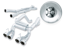 Borla Multicore Cat-Back Exhaust C6 ZR1 Z06 2006 to 2011 140265 Full System Shot