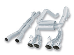 Borla S-Type C6 Z06 ZR1 Cat-Back Exhaust 140191 Full System Shot