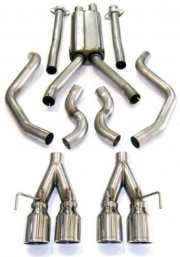 Bassani Pro Cat-Back Exhaust for 2005-2010 C6 Corvette C6CMS5 Full System Shot