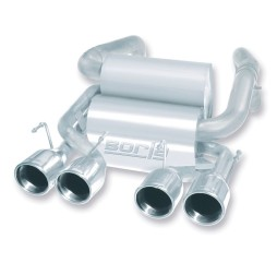 Borla Classic Touring-Style Stainless Steel Axle-Back Exhaust for 2009+ C6 Corvette 11769 Full System Photo