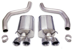 Corsa C6 Z06 ZR1 Axle-Back Exhaust 14164 With Twin Pro Series 4.0 Tips