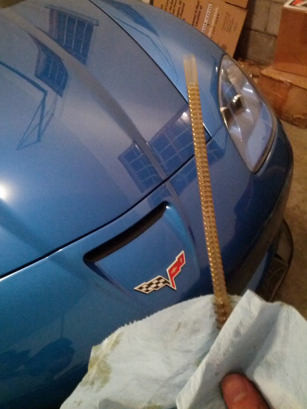 How To Remove Oil From a Z06 The Wrong Way