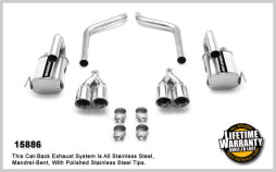 MagnaFlow Axle-Back Exhaust for 2005-2008 C6 Corvette 15886 Full System Shot